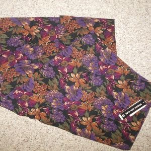 Briggs 8 Dark Floral Pencil Skirt Calf Microfiber